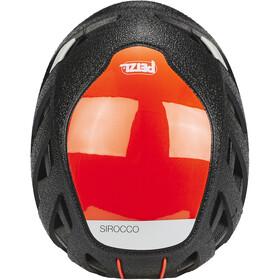Petzl Sirocco Casco de escalada, black/orange